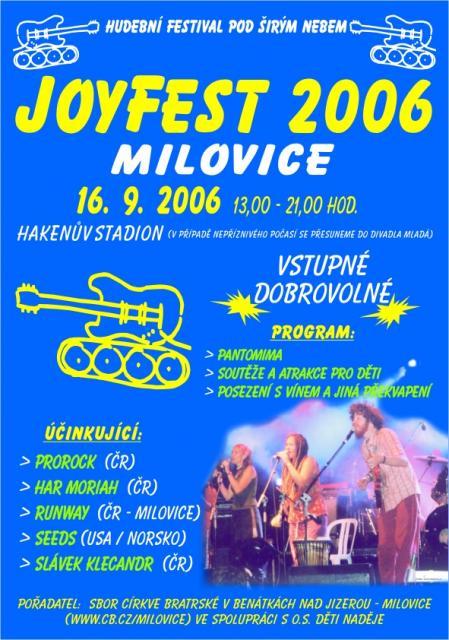 Plakát Milovice 2006