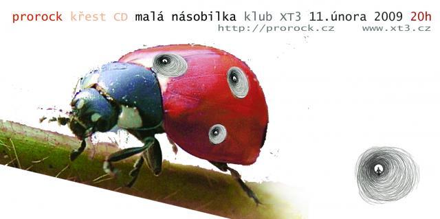Plakát - XT3, únor 2009 - křest CD Malá násobilka