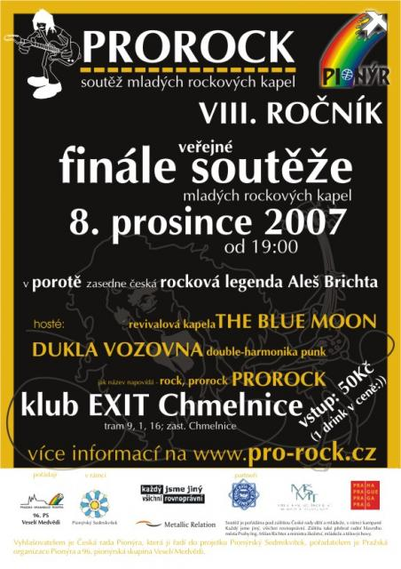 Plakát ProRock - prosinec 2007
